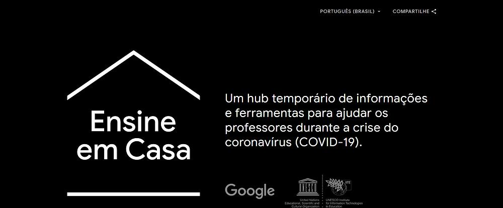 Banner que direciona para o site Ensine em Casa