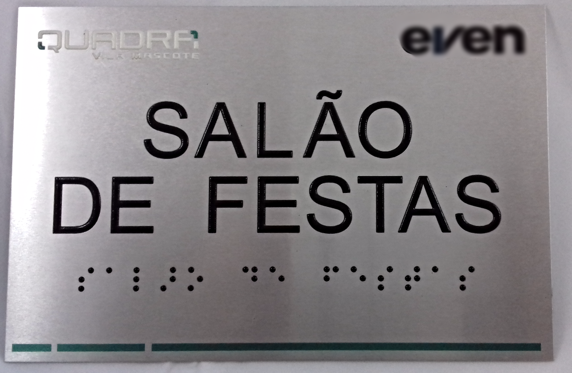Placa de braille Sinal Link