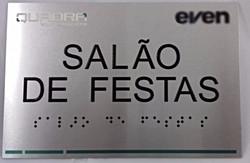 Placa de braille Sinal Link