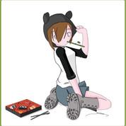 Summer Panda Girl