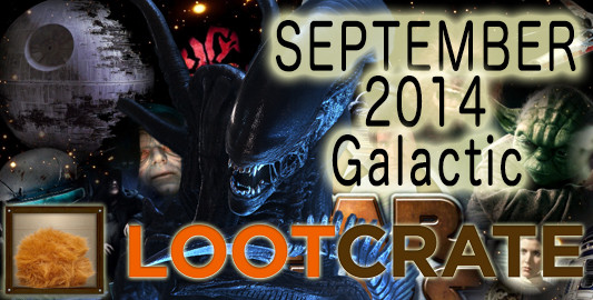 September 2014 Loot Crate Review: Galactic!