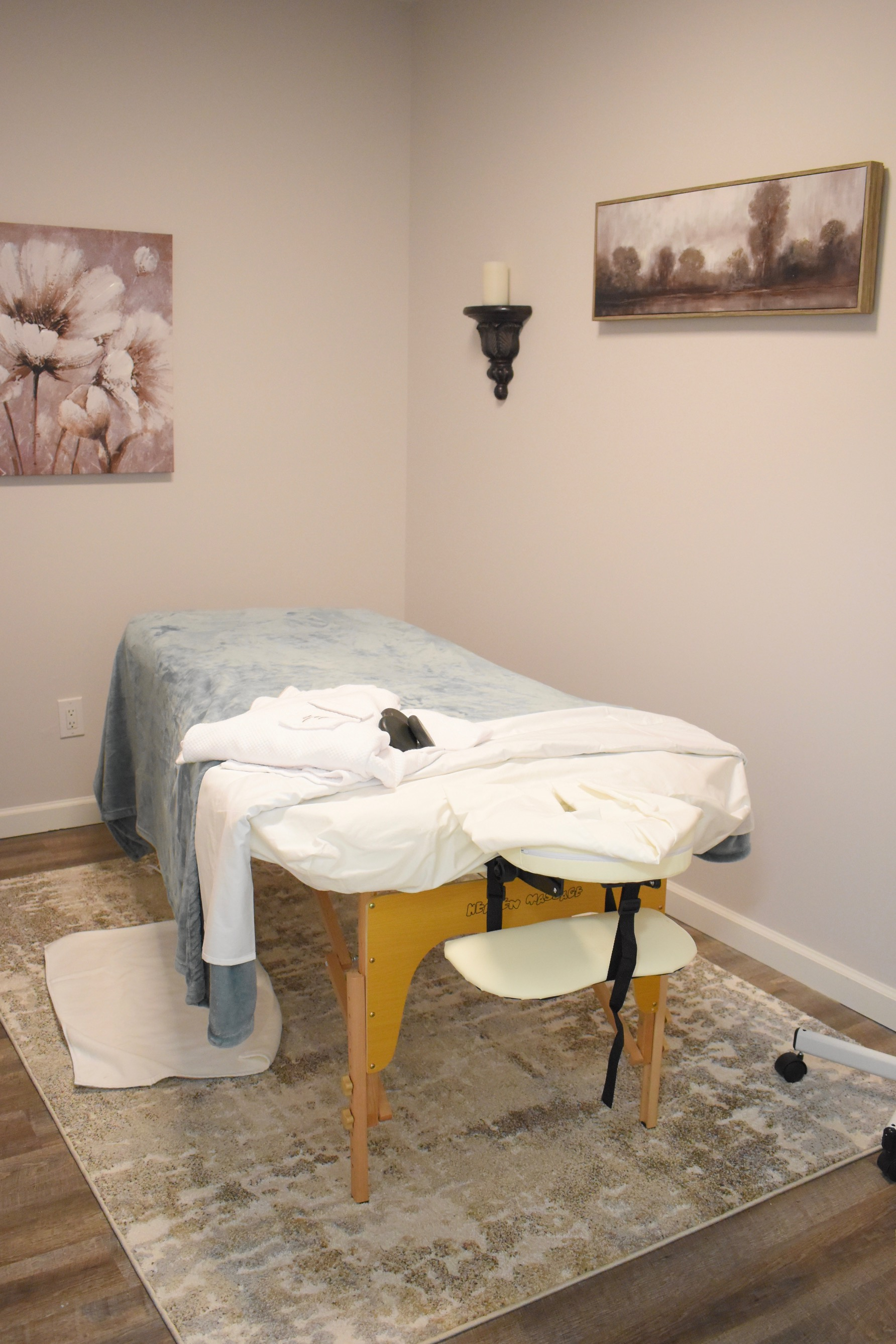 Massage room in the spa