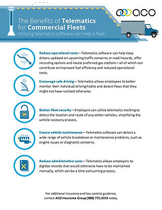 The Benefits of Telematics for Commercia