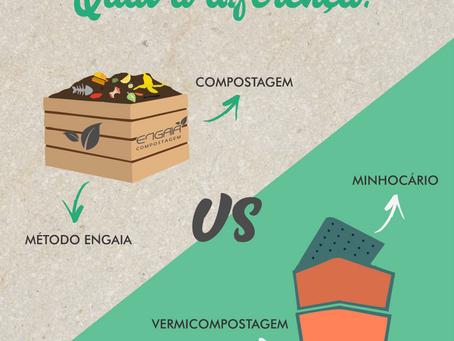 Diferença entre Compostagem e Vermicompostagem