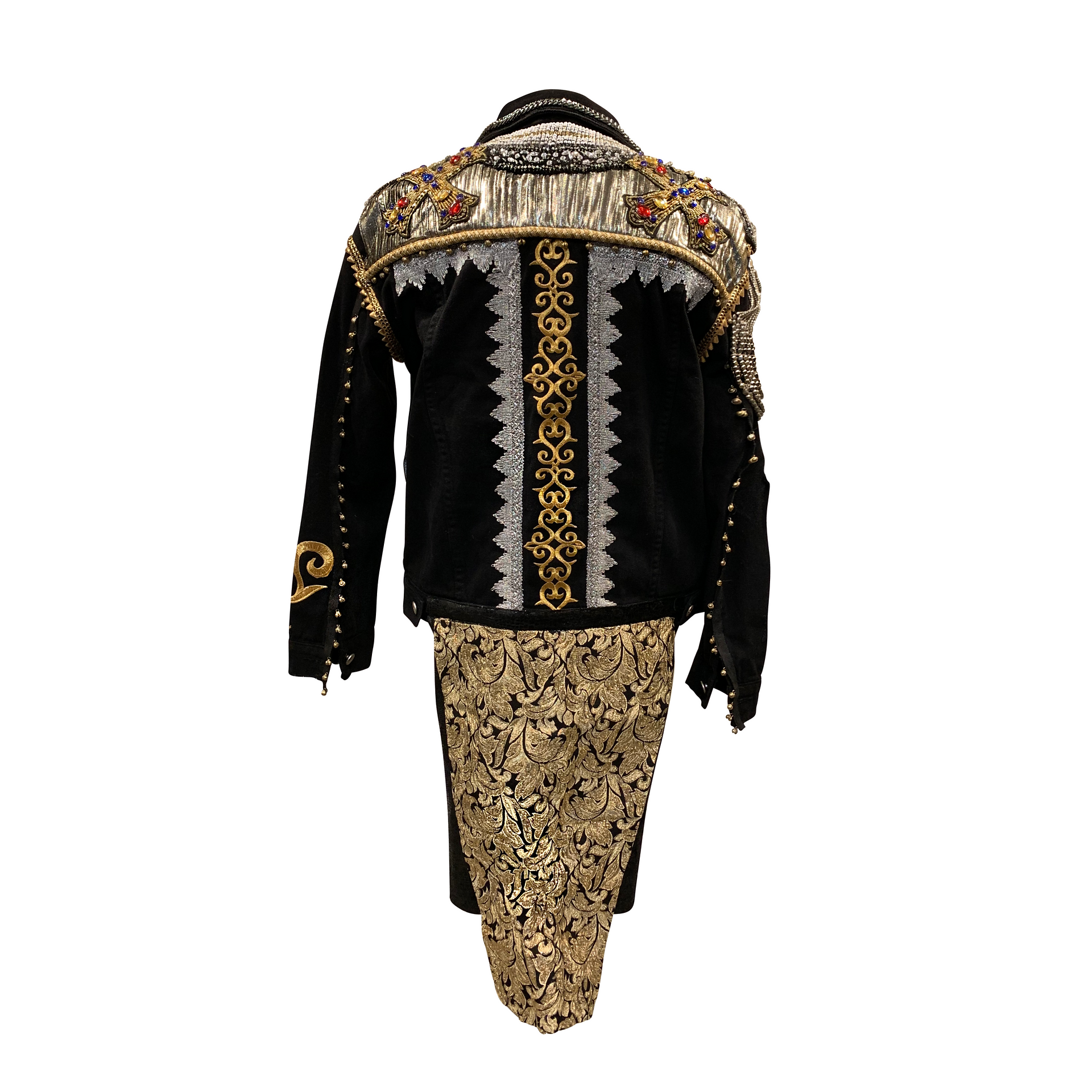 Final Maluma jacket SACRED MEDICINE back