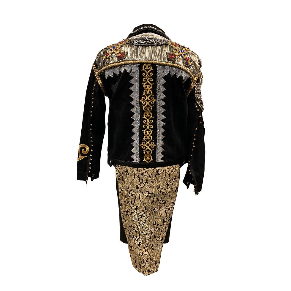 Final Maluma jacket SACRED MEDICINE back