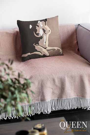 The Naked Melanin Truth - Faux Suede Square Pillow