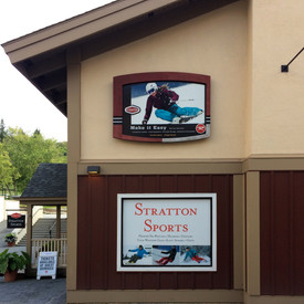 Stratton Mountain Resort Signs