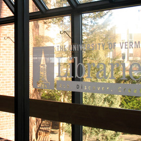 UVM library window decal