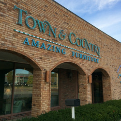 Town and Country Amazing Furniture sign