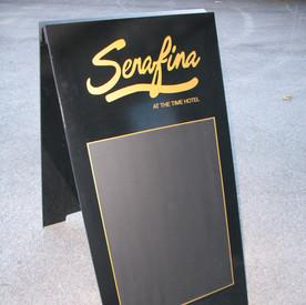 Serafina Sandwich board.JPG