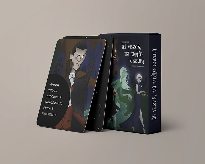 Às vezes, na noite escura: Baralho + Caderneta + Livro + Print + E-book