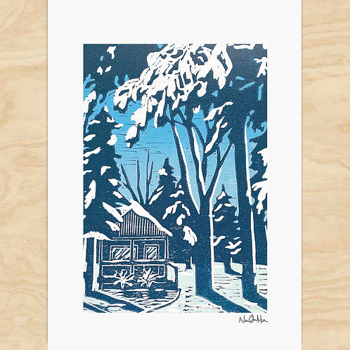 Winter Cabin Cards (6)