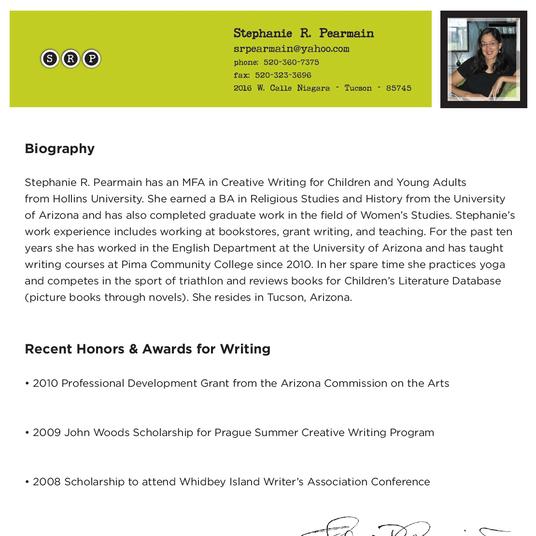 Stephanie Pearmain Bio
