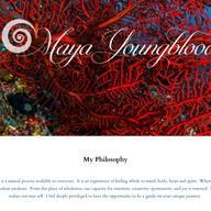 Maya Youngblood Website Homepage