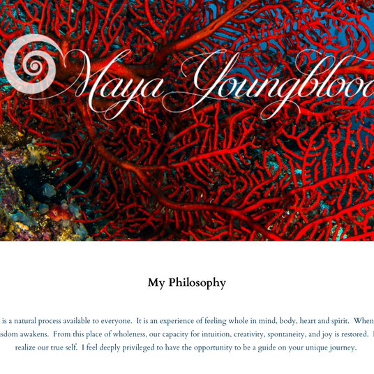 Maya Youngblood Website Homepage