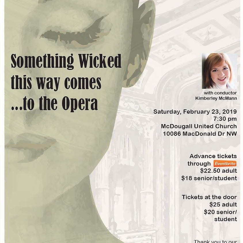 Something Wicked this way comes to the Opera!