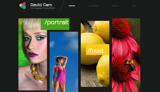 Commercial & Editorial website templates – Photographer Site