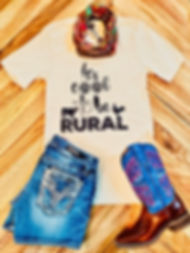 It's cool to be rural t-shirt
