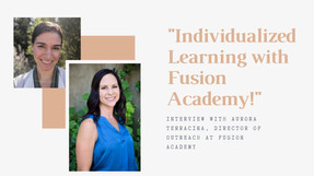 Individualized Learning with Fusion Academy!