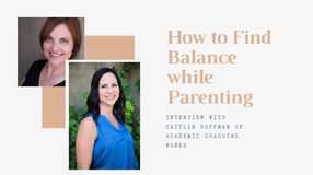 How to find Balance while Parenting