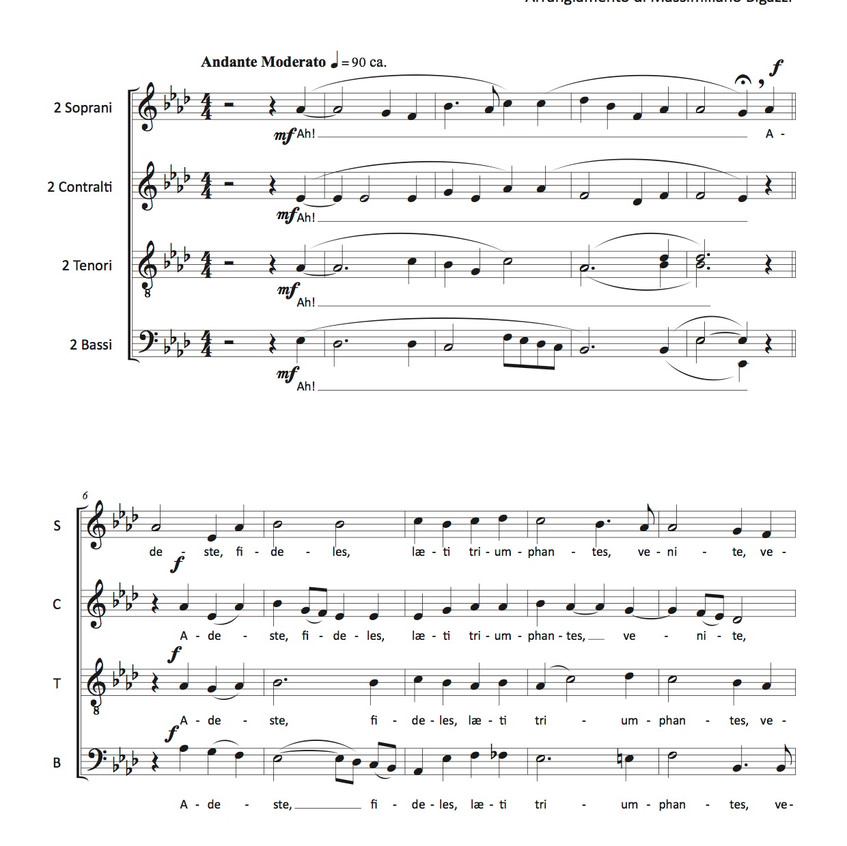 Adeste Fideles - Score