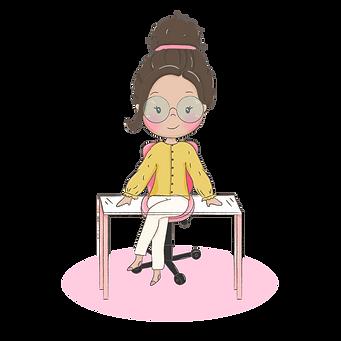 Menina empreendedora de oculos na mesa-0