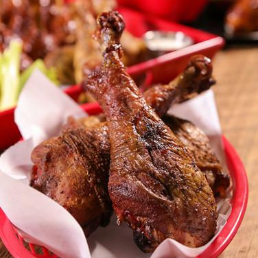 Maple Brined Smoked Turkey Legs