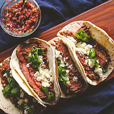 Street Tacos with Fire Roasted Salsa