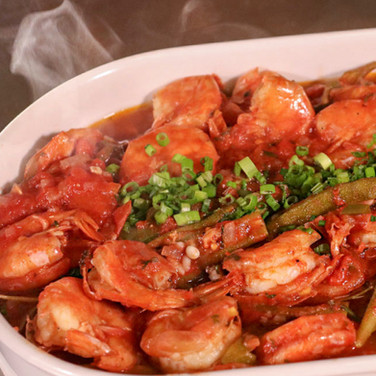 Gullah Stewed Shrimp and Okra