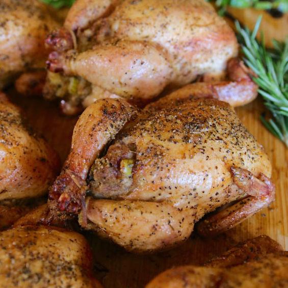 Savory Stuffed Cornish Hen