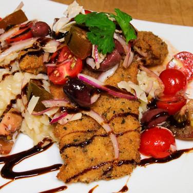 Bruschetta Chicken with Risotto