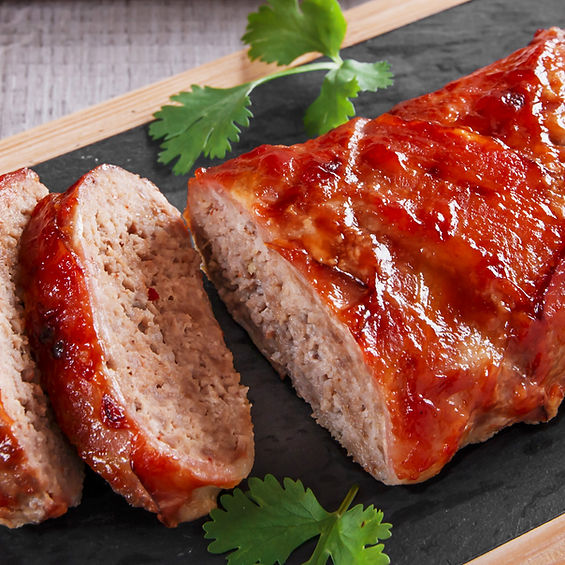 Bacon Meatloaf with Sriracha Bourbon Ketchup