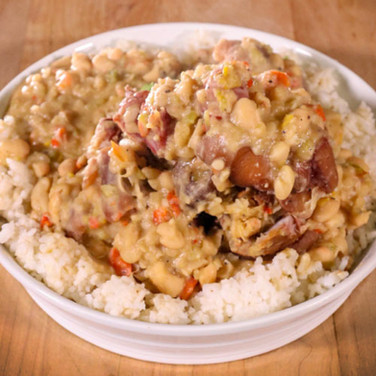 Creole White Beans and Ham Hocks