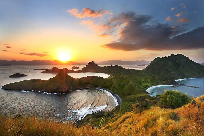 Pemandangan di Pulau Padar