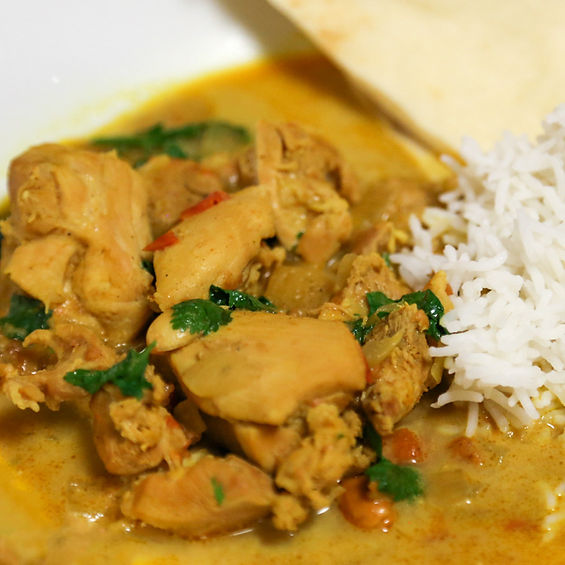 Coconut and Peanut Chicken Curry