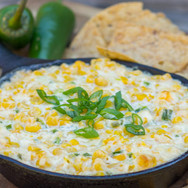 Spicy Roasted Corn and Pepper Jack Dip