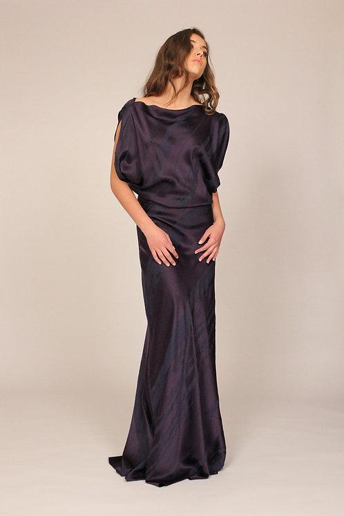 Paint-brush Silk Bias Gown