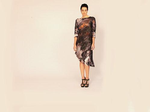 Painted Silk Charlotte Dress