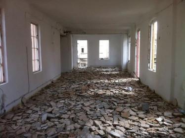 The white room destroyed by Niv Moshe Ben-David