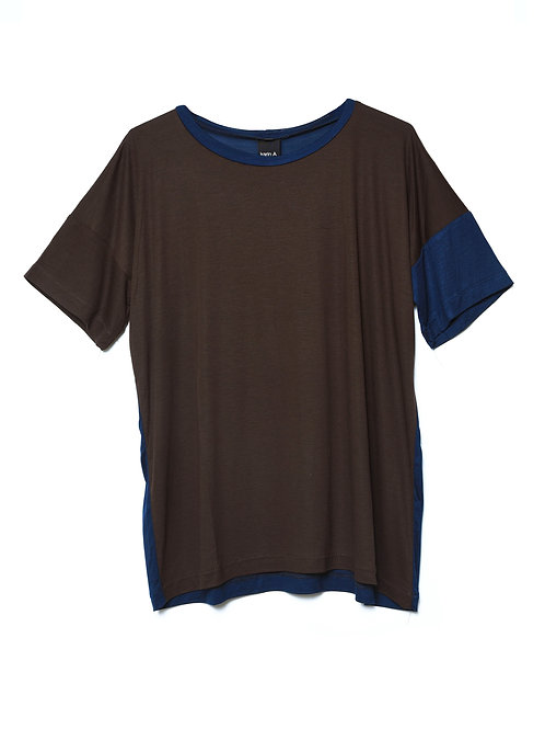 Combo T-shirt in Brown and Blue