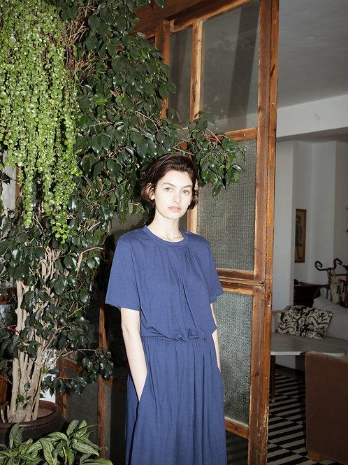 Pleated Elastic Waist Dress