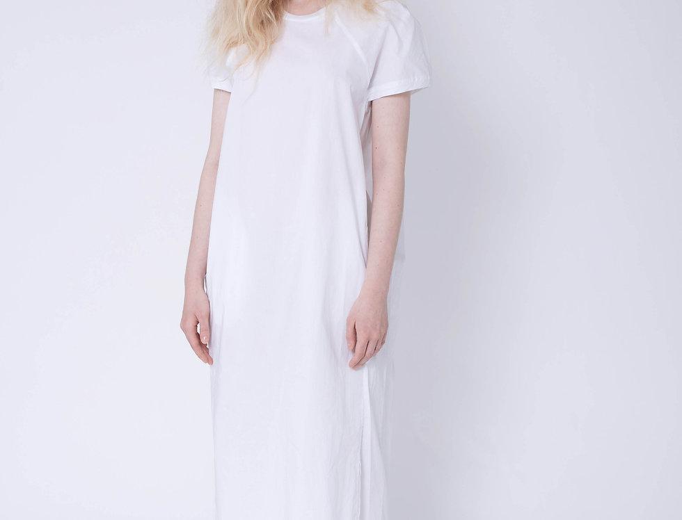 Ribbed Neckline Dress