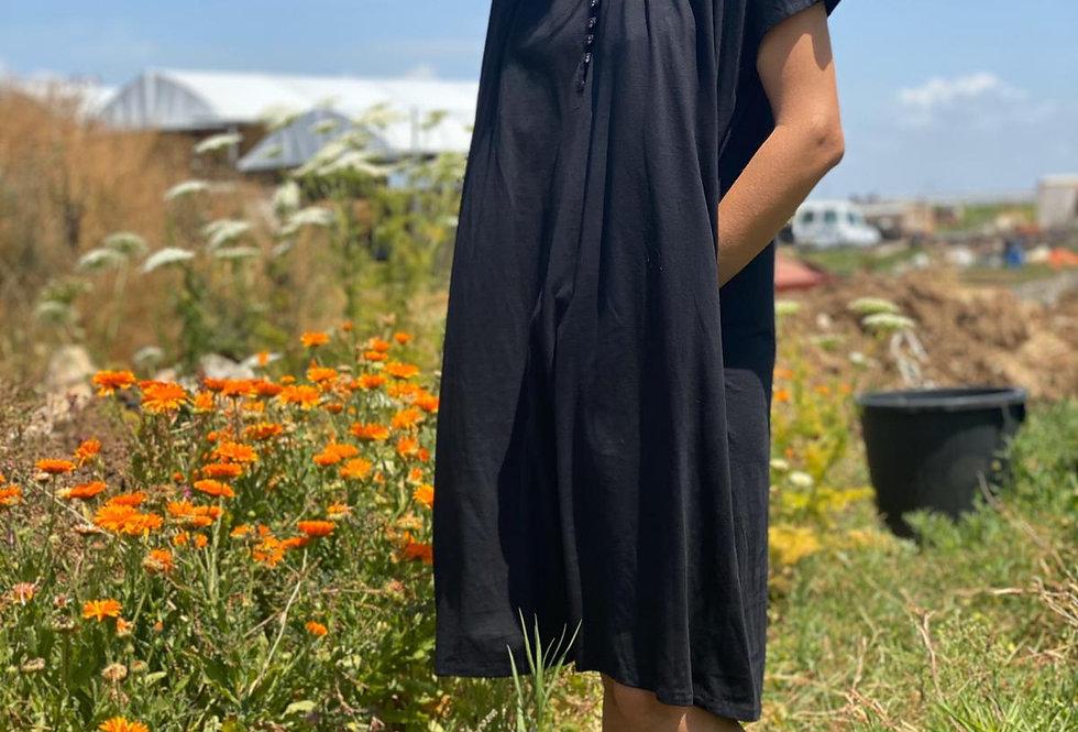 Buttoned Jersy Dress