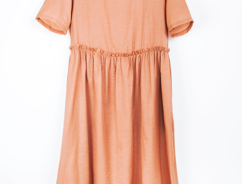 Rough Waist Cut Dress