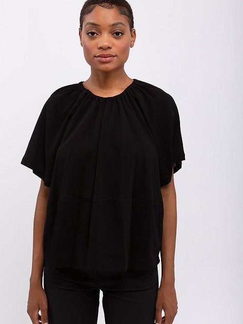 Pleated Crepe Top