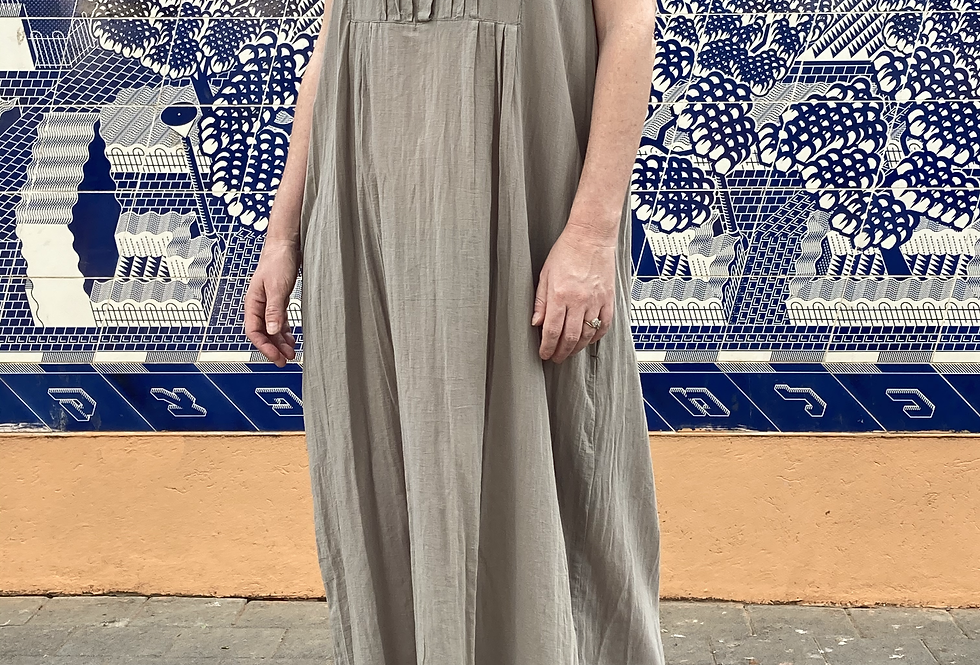 Maxi Chinese Collar Dress
