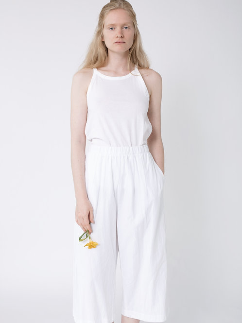 Wide Leg Summer Pants White