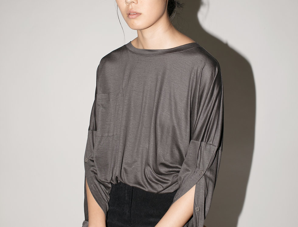 Buttoned Sleeves T