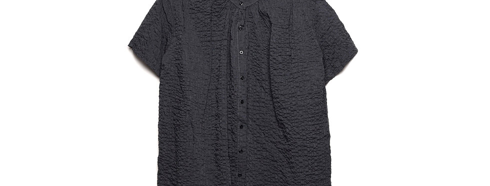 Buttoned Wrinkled Blouse